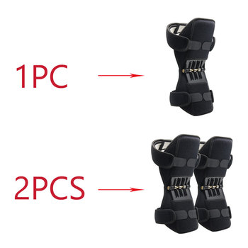 1pc and 1 Pair Power Joint Support Knee Pads Powerful Rebound Spring Force Knee Support Professional Protective Sports Knee Pad 5