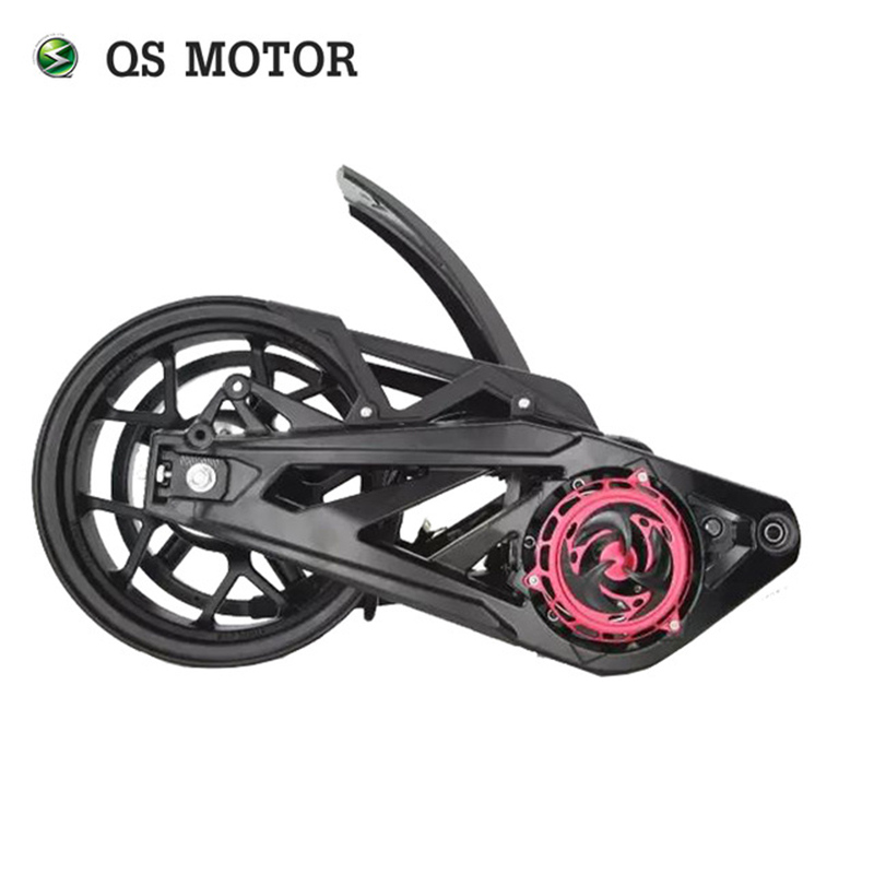 QSMOTOR 3000W <font><b>5000W</b></font> 138 70H electric motorbike mid drive <font><b>motor</b></font> assembly for electric motorcycle image