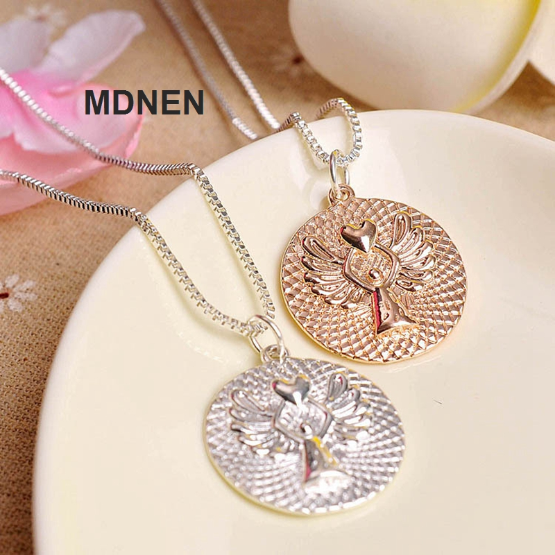 New 1PCS Alloy Love Guardian Angel Necklaces Kids Necklace For Children Jewelry, Birthday Gifts,MDNEN