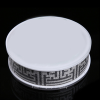 Round Acrylic Jewelry Display Plate Bracelet Stand Holder Earring Necklace Pendant Chain Ring Organizer Display Shelf