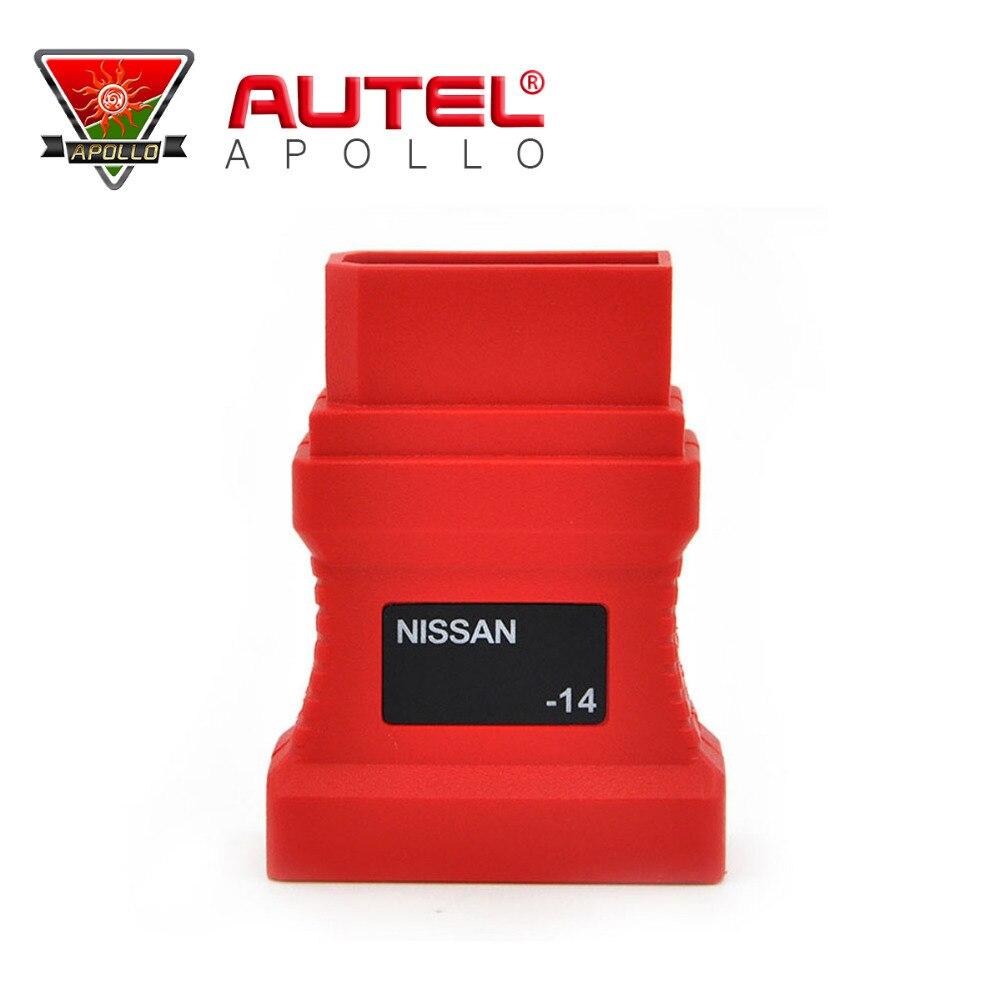 Prix pour Professionnel Autel adaptateur Pour Nissan 14 broches à 15 Broches OBD2 OBD Connecteur De Diagnostic Adaptateur