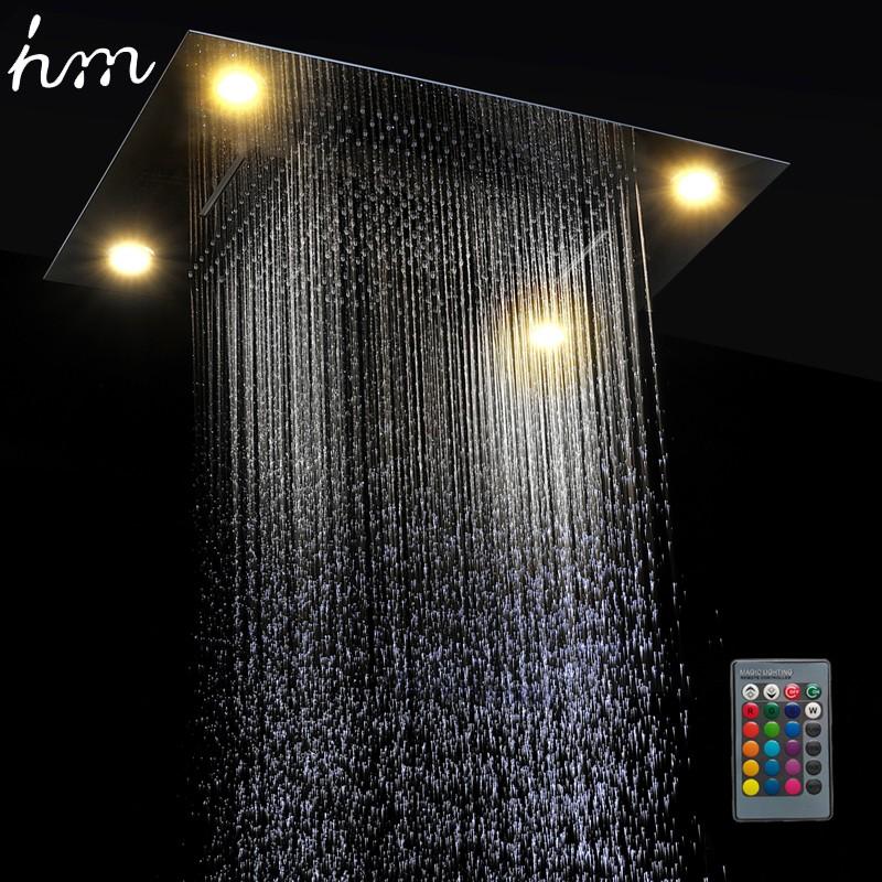 hm Multi Function Led Light Shower Head 600800mm Ceiling Rain Shower Remote Control LED Rainfall Waterfall Massage Shower Heads (1)