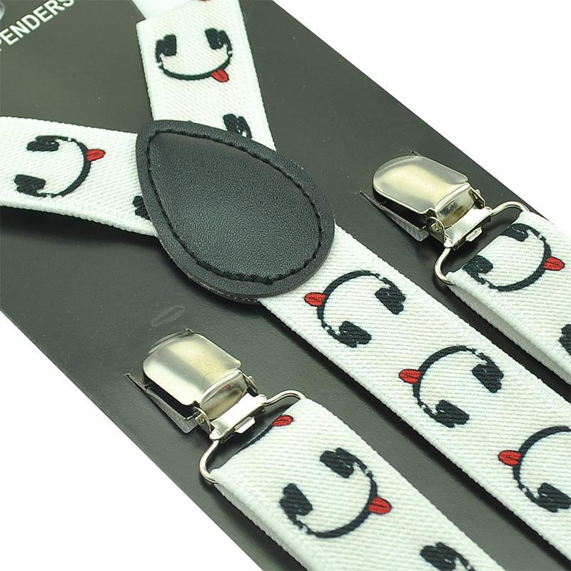 Freies Verschiffen 2018 Neue Mode Frauen Schwarz-schnurrbart Printed Hosenträger Und Bogen Krawatten Sets Bekleidung Zubehör Hosenträger