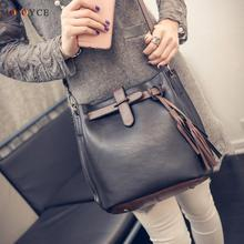 2017 Luxury Handbags Women Bags Designer Bag Stylish Split Joint PU Leather Hobo Crossbody Bag for