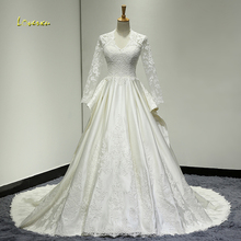 Loverxu Robe De Mariee Long Sleeve Wedding Dress 2019
