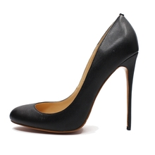 Dropshipping Spring Autumn Genuine Leather Women Dress Pumps Fashion Round Toe Ladies Party Thin High Heels Shoes For Woman B020