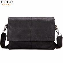 f1158b6d883f VICUNA POLO Casual Fashion Black Leather Man Bag Famous Brand Envelope Bag  Men Messenger Bag Leisure Mens Crossbody Bag Handbags