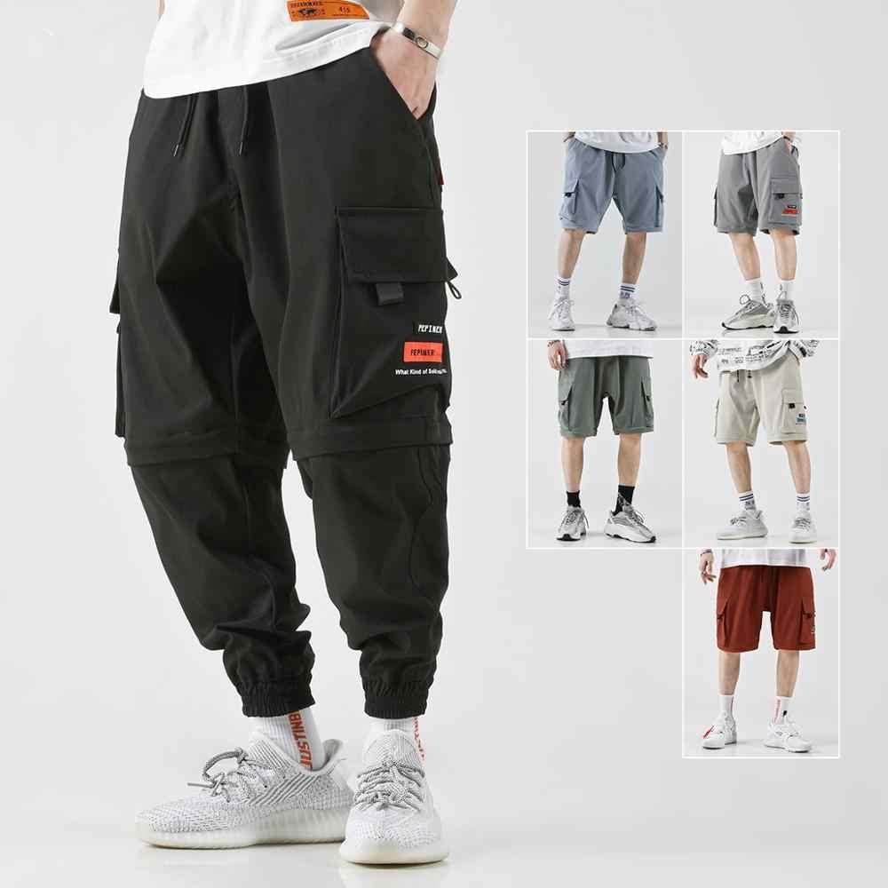 Hip Hop Detachable Casual Pants Mens Harem Pants Loose Joggers Pantalon Cargo Hombre Sweatpants Cargo Pants Spodenki Meski Harem Pants Aliexpress