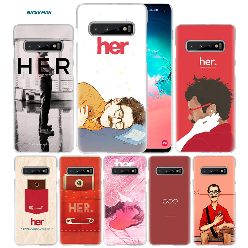 Her 2013 Movie Case for Samsung Galaxy S10 5G S10e S9 S8 M40 M30 M20 M10 J4 J6 Plus J8 2018 Note 8 9 10 Hard Fundas Phone Cover image