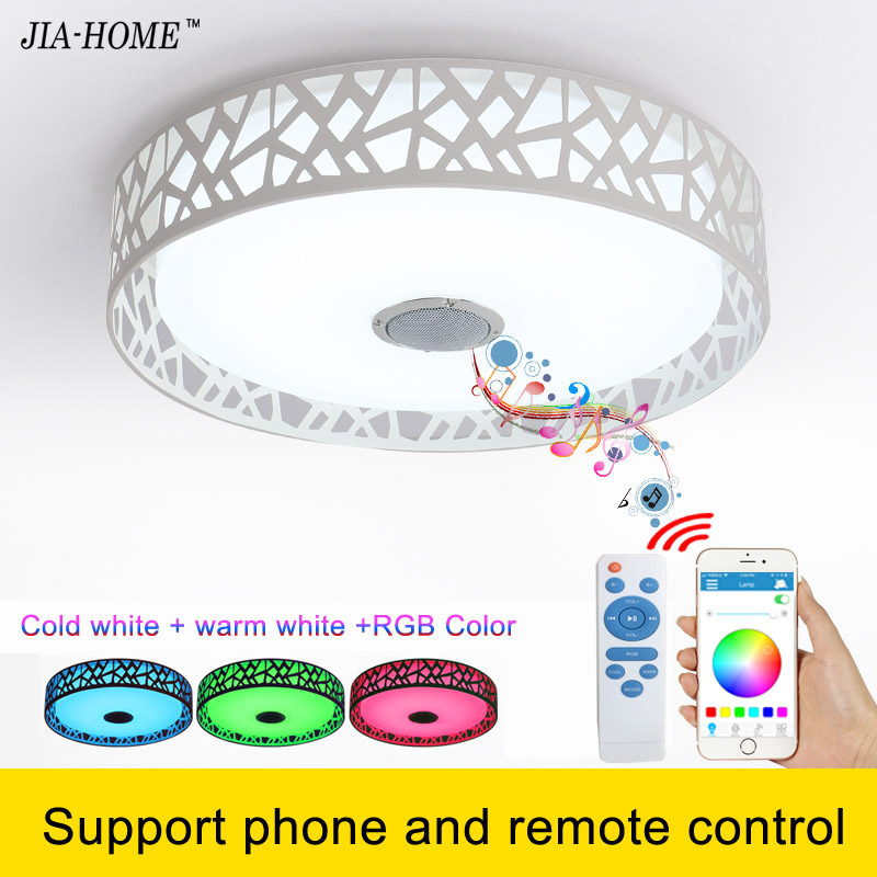 bluetooth led flush mount ceiling lights for sitting room with music and remote or phone control dome ceiling light fixtures