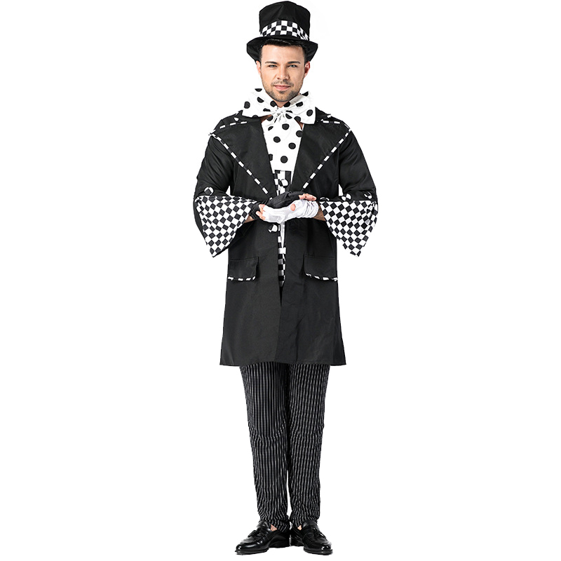 Adult Men Wicked Mad Hatter Alice In Wonderland Themed Party Cosplay Halloween Costume