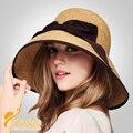 2016 Australia Estilo Sombreros de Paja (Al Por Mayor de moda sombrero plano sol Placa Opcional cap forma de sombreros de verano para mujeres B-2282