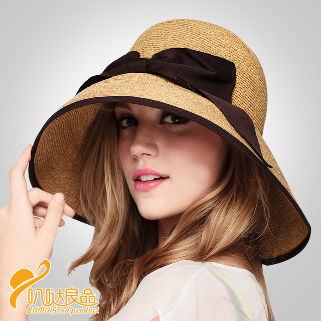 2016 Australia Style Straw Hats ( Wholesale fashion flat sun hat Plate Optional cap shape summer hats for women B-2282