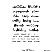AZSG Wedding Birthday Invitation Word Clear Stamps/Seals For DIY Scrapbooking/Card Making/Album Decorative Silicone Stamp Crafts