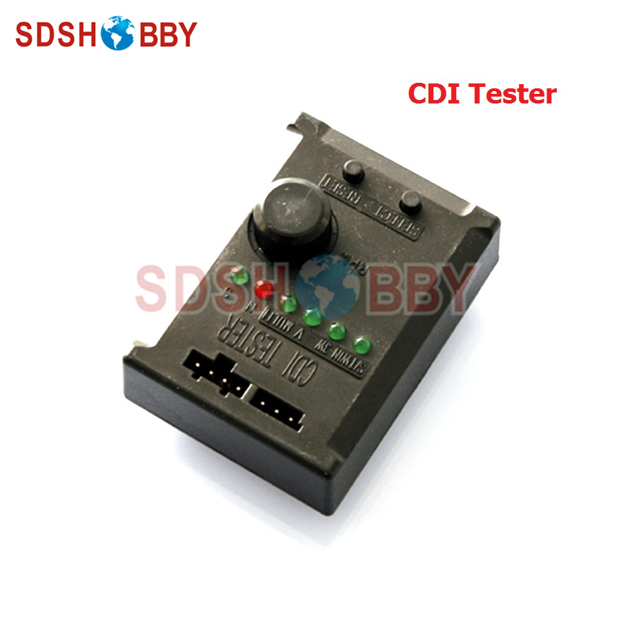 Rcexl CDI Tester Electronic Ignition Igniter Tester for Gas Engine rcexl lv type twin cylinders cdi ignition igniter ngk me8 1 4 32 120 degrees 6v 12v a 02 series for v