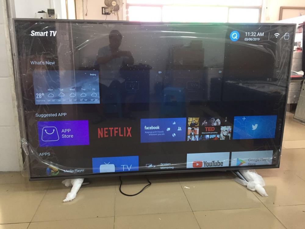(Expédier à Guangzhou en chine seulement) smart T2 4 k télévision TV de 86 100 pouces avec Quad core 1.5 GB ram 8 GB rom d'android OS 7.1.1