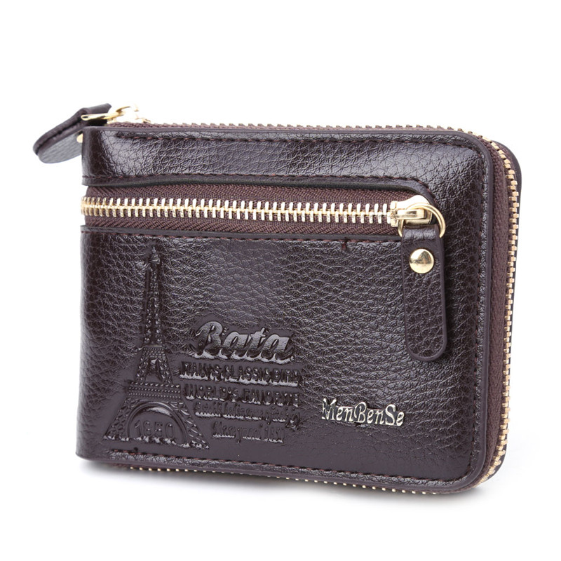 THINKTHENDO  New Design Multi-function Faux Leather Mini Wallet ID Card Key Holde ZipperTwo-Fold Retro PU Purse  Bag Pouch бра artelamp a3191ap 1ab