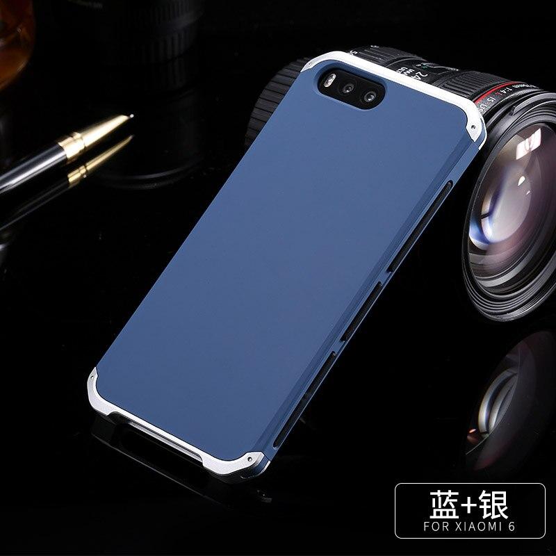 Para Xiao mi mi Caso Luxo Alu 6 num Metal Frame Para Xiao mi mi mi mi 6 6 Plástico tampa traseira Para Xiao mi mi 6 Capa Fundas