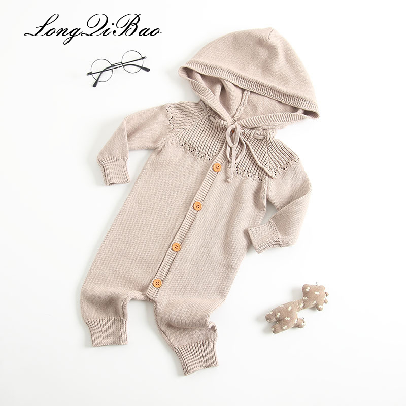 Amiable High Quality 2018 Baby Clothes 0-3 Months Baby Autumn Onesies 6 Long Sleeve Climbing Clothes Newborn Baby Clothes Onesies Let Our Commodities Go To The World