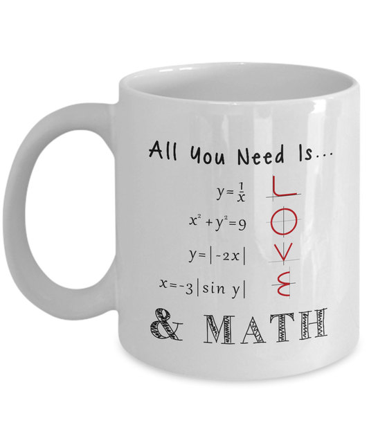 Math Teacher Mugs Tea Mug Milk Cup Wine Beer Cups Friend Gifts Home