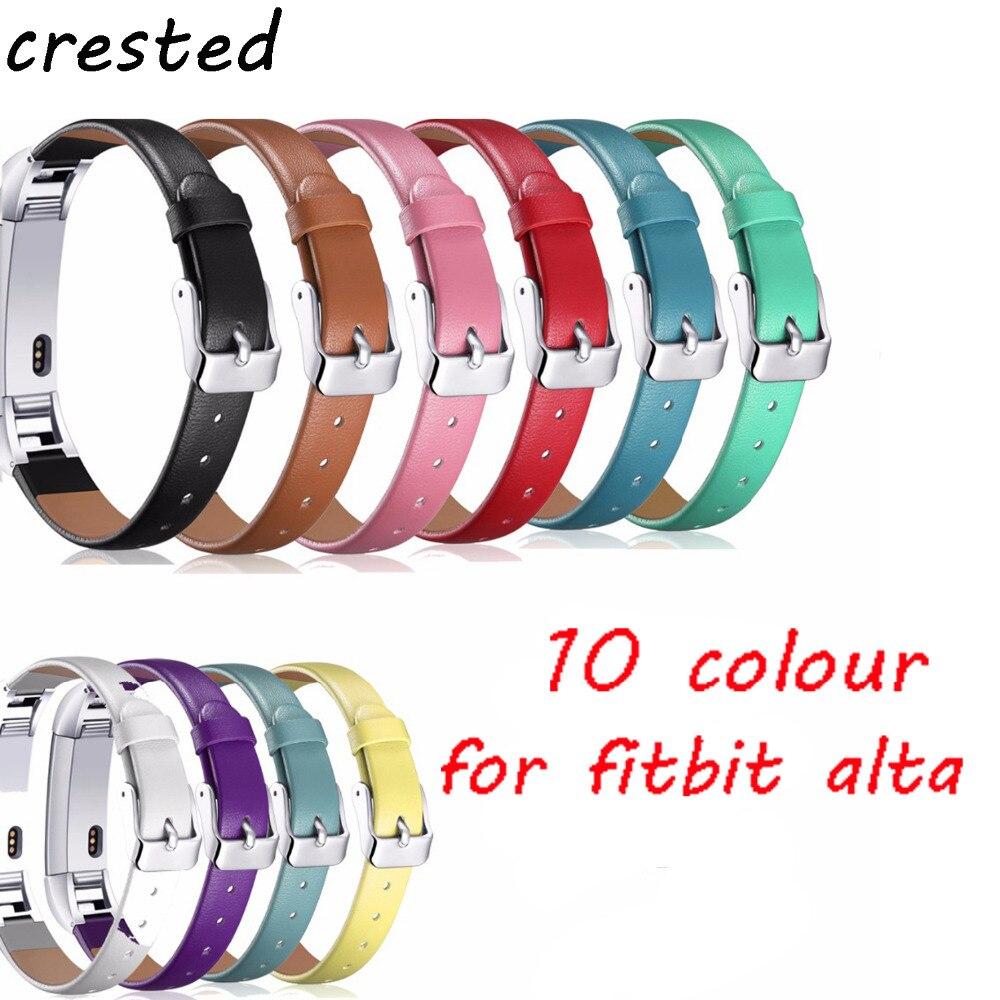 Correa de cuero genuino para Fitbit Alta/Alta HR correa de reloj de Alta calidad correa de repuesto
