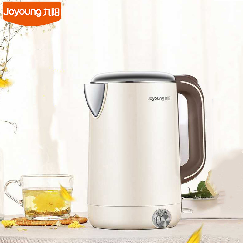 K17 W67 Joyoung 220V Electric Water Kettle Household Fast Water Boiler 1.7L Capacity 1800W Auto Off  Temp Setting Insulation|Electric Kettles| |  - title=