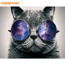 CHENISTORY 60x75cm Diy Painting By Numbers Kit Cat Animals Acrylic Paint By Numbers Wall Art Picture For Home Decors Artwork(China)