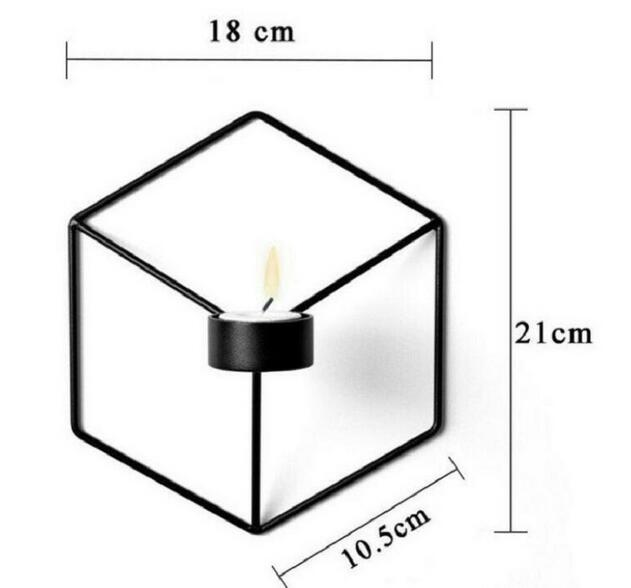 New Visual Touch Nordic Style 3D Geometric Candlestick Metal Wall Candle Holder Sconce Matching Small Tealight Home Ornaments