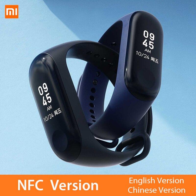 Mi Band 3 NFC Version Xio mi Herz Rate Monitor Smart Sport Armband OLED mi band 3 Smartband Multi Farbe...