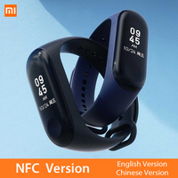 Mi Band 3 NFC Version Xiomi Heart Rate Monitor Smart Sport Bracelet OLED Miband 3 Smartband Multi Color Straps