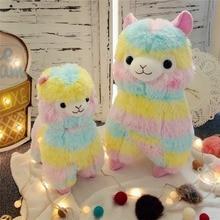 Hot new1pc 35cm Kawaii Rainbow Alpaca Plush Sheep Toy Japanese Soft Alpacasso Baby Stuffed Animals Doll children Christmas Gifts недорого