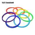 10pcs/set 3D Printer Pen Fluorescence Filament ABS 1.75mm Plastic Rubber Consumables Material 3d pen filament