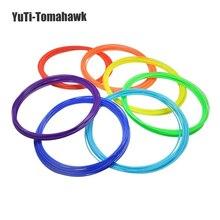 10 teile/satz 3D Drucker Stift Fluoreszenz Filament ABS 1,75mm Kunststoff-gummi-material-verbrauchsmaterial 3d stift filament