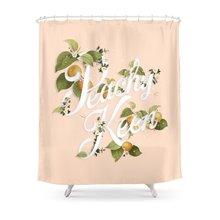 WARM TOUR Peachy Keen : Peach Shower Curtain
