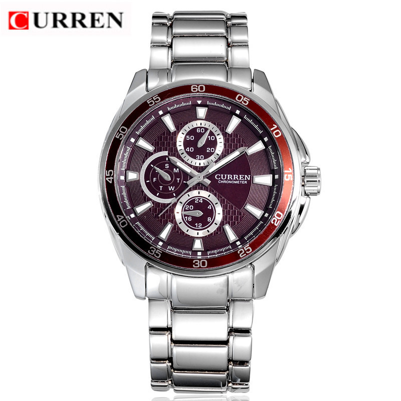 Curren Mens Watches Top Brand Luxury Reloj Hombre Men's Quartz Sports Watch Male Full Steel Wristwatches Relogio Masculino цена