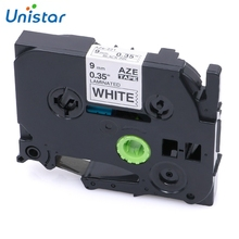 hot deal buy unistar tze221 compatible brother p-touch tape 9mm*8m black yellow combo set laminated printer supplies label maker tze221 tz621