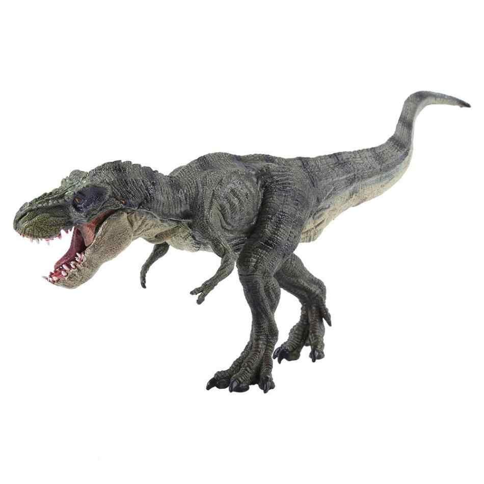 Tamanho grande Realista Tiranossauro Dinossauro Modelo Animal de Plástico Figura De Ação & Toy Figuras Modelo Animal Crianças Educação Infantil