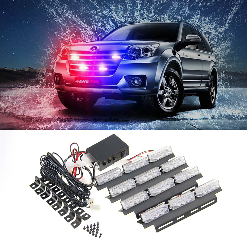 4*9 36 LED Warning Blinking Strobe Flash Light/Lightbar Deck Dash Grille LED EMERGENCY STROBE LIGHTS 3 Mode 12V