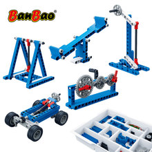 BanBao MOC 6918 Power Machine Leverage Technic Experiment Bricks Educational Models Building Blocks Toys For Children Kids Gifts