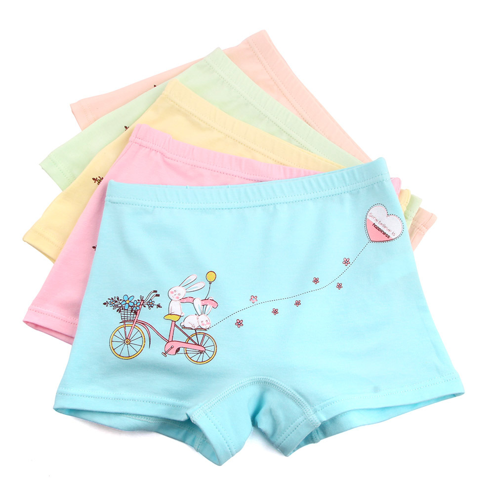 5pcs/lot Underpants Briefs Girls Cute Bunny Underwears Panties Infant Boxers Briefs Shorts Cotton Cartoon Teenagers Underwears