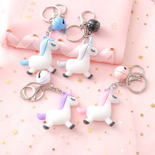 2019 New Fancy&Fantasy Hot Sale Cute Unicorn Keychain Animal PVC Keychains Women Bag Charm Key Ring Pendant Gifts High Quality(China)