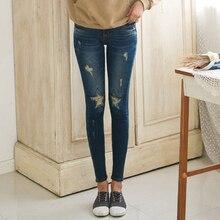 2015 звезды рваные джинсы для женщин карандаш джинсы узкие джинсы femme плюс размер 5xl жан тонкий femme
