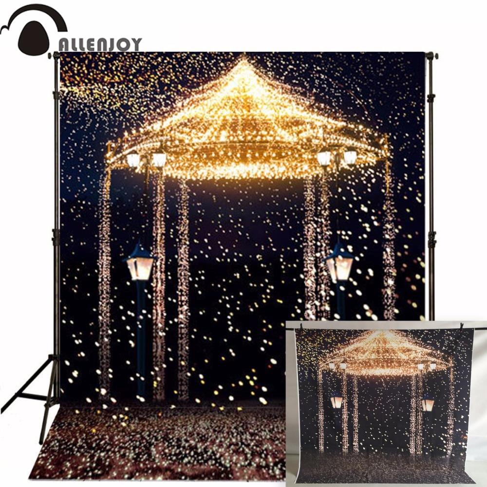 Allenjoy Wedding 아름다운 사진 스튜디오 배경 사진 배경 별 결혼식을위한 Photocall 불꽃 놀이 캐슬 사용자 정의 크기