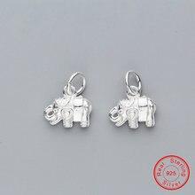 Uqbing 925 пробы серебро свежий элегантный слон Висячие Подвески