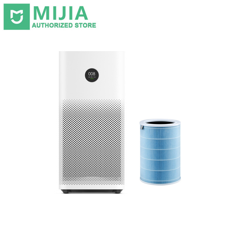Upgrade Xiaomi Air Purifier 2S Smart OLED Display Smartphone Mi Home APP Control Smoke Dust Peculiar Smell Cleaner