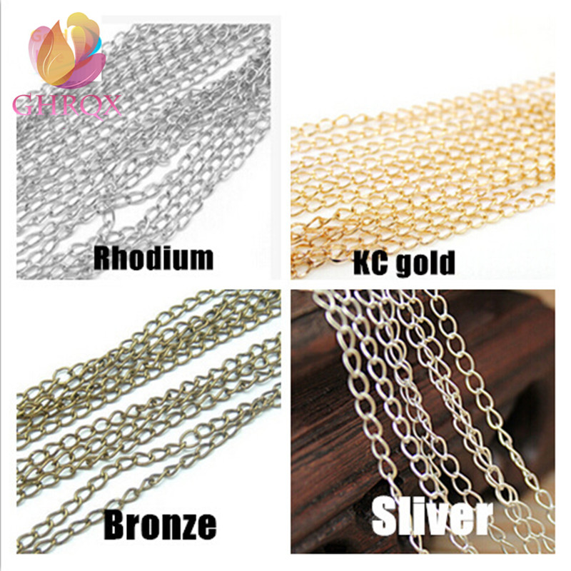 GHRQX Hot 2meter  4mm Extend Chain Single Port Chain  Necklace Extender  For Jewelry Findings