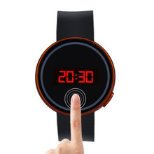 Fashion Men Women Watch LED Touch Screen Date Silicone Wrist Black Watch  creative    screen men and women lovers watch smart el