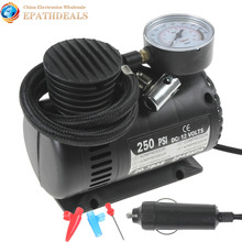 Mini Portable 12V 250PSI Electric Pump Air Compressor Tire Inflator for Motorcycles / Electromobile / Canoeing / Bike Tyre