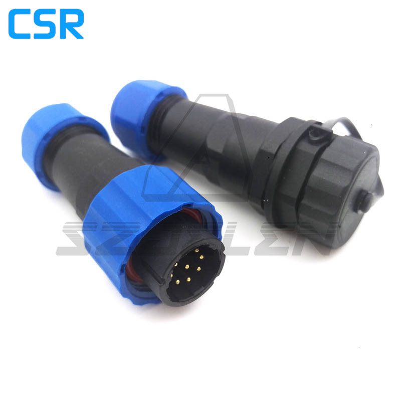 SD16 , weatherproof male female 9 pin connectors, Current Rating 5A, LED Panel mount waterproof connector, wire connector 2pcs pcb panel mount midi female din5 din 5 pin jack d501
