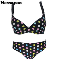 Sexy Lady Silicone Invisible Bra Set 34 36 38 40 AB Cup Support Flower Leopard Leopard